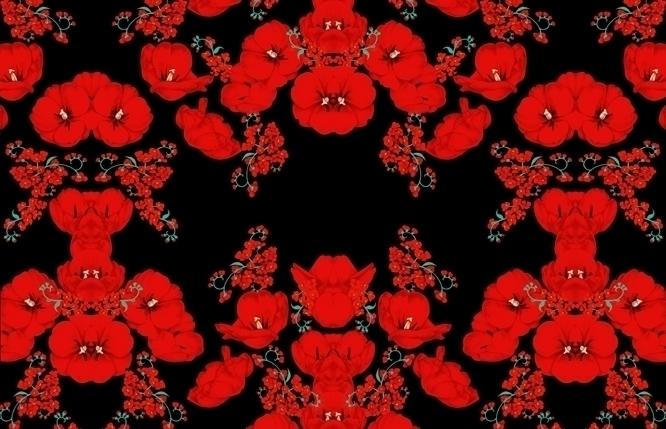 Flowers pattern - flowers, patterndesign - murysina | ello