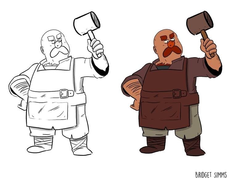 Blacksmith - characterdesign, blacksmith - hexpanda-1126 | ello