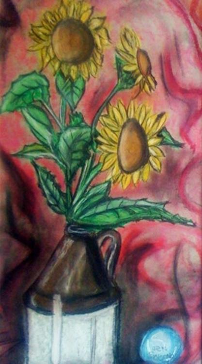 Flowers jug - illustration, speed - jettasky   ello