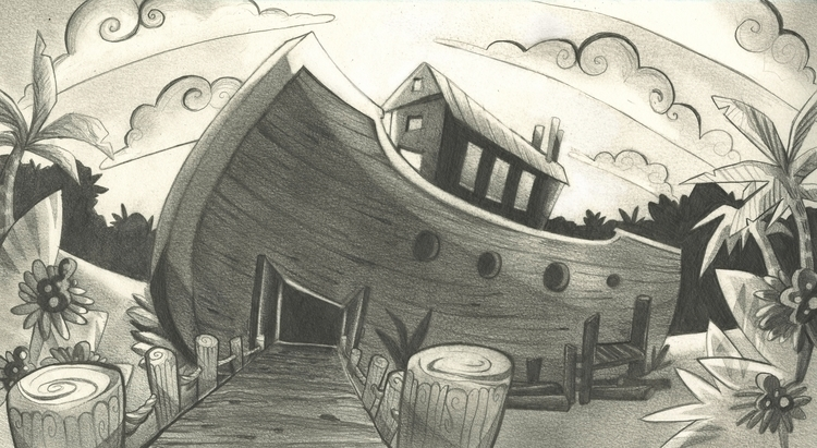 ark biblical story) sketch - layout - jessdrawz | ello
