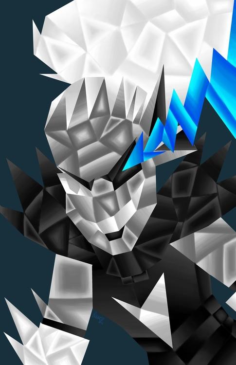 Cubist rendition Undyne Undying - litvac   ello