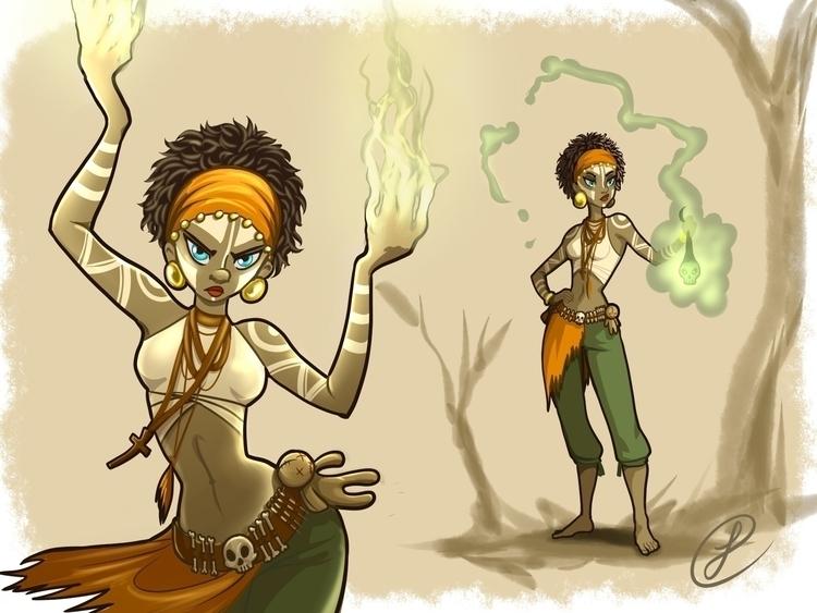 Rosemarie, Voodoo Witch - illustration - peipp | ello