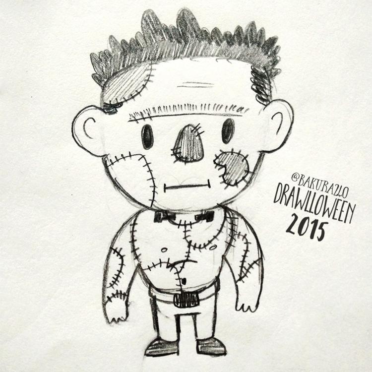 13 - Monster - drawlloween, sketch - clairestamper | ello