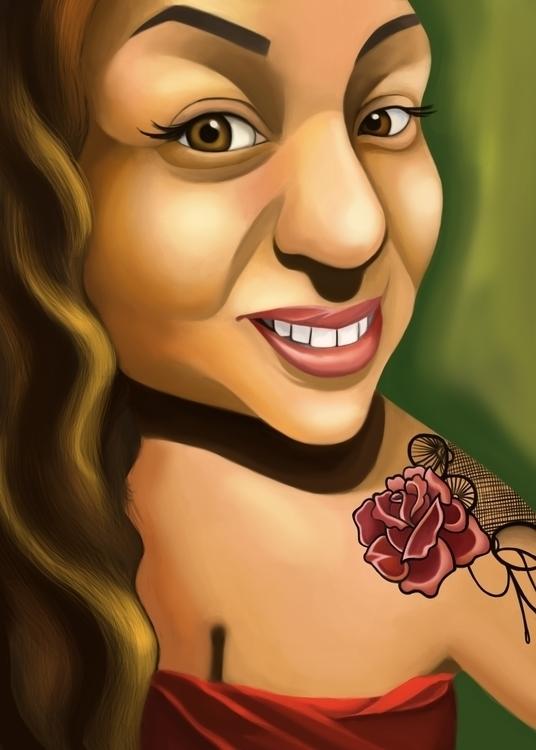 Ashley - portraitillustration, painting - andyanime90 | ello