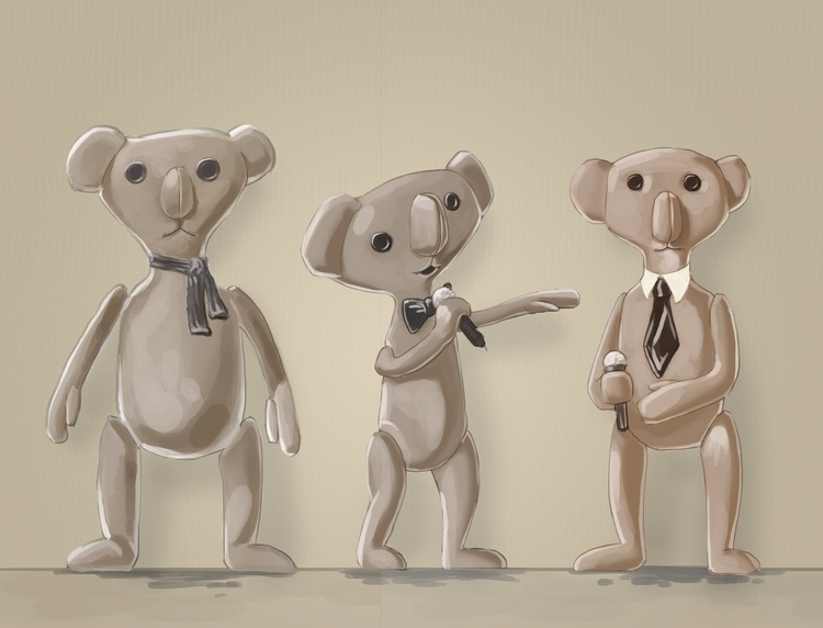 Teddy Bears pilot concepts - illustration - grositskiy   ello