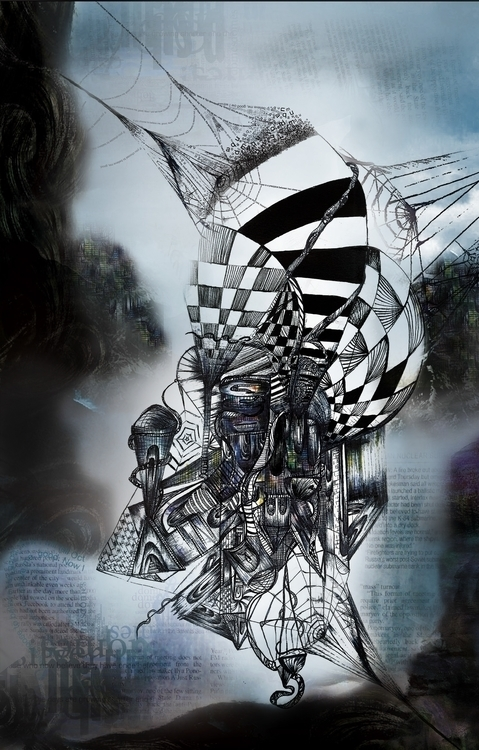 Invisible Cities - Octavia - illustration - ibtisam | ello