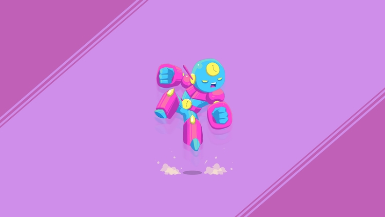 Character Design - ChronoBot - illustration - planckpixels | ello
