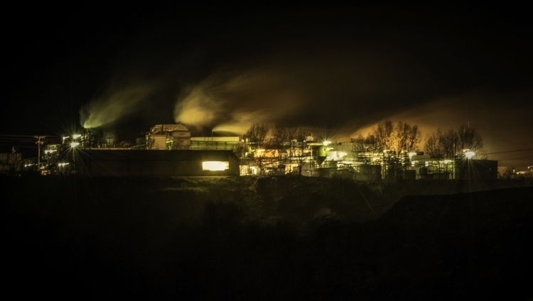Factory Night - photography, factory - laurentesch | ello