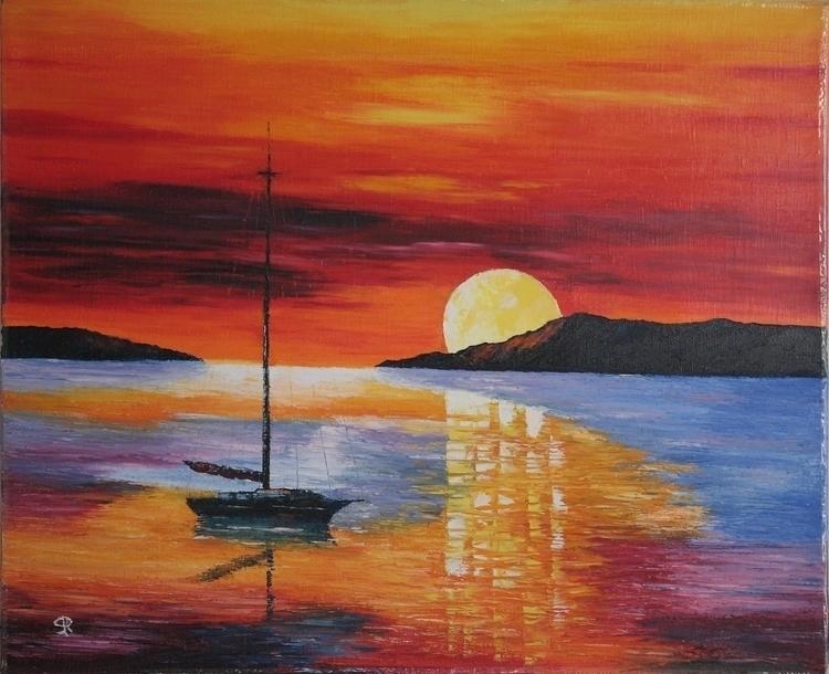 GOODDAY_SUNSHINEy - sea, boat, moning - sera-9068 | ello