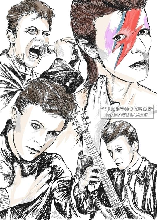 Faces Bowie - davidbowie, bowie - naomiaustin | ello
