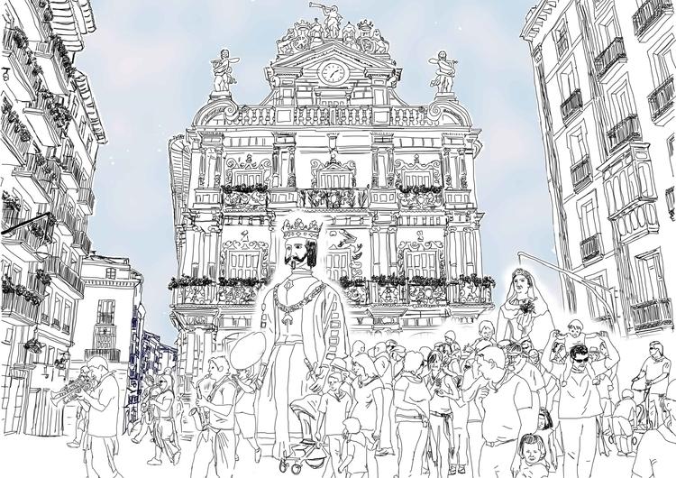 illustration, lines, carnival - santicp | ello