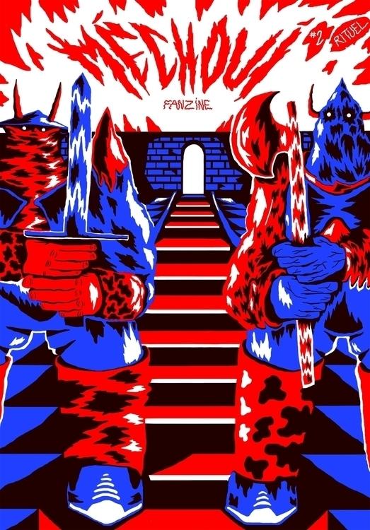 Cover art Méchoui fanzine - méchoui - gomze   ello