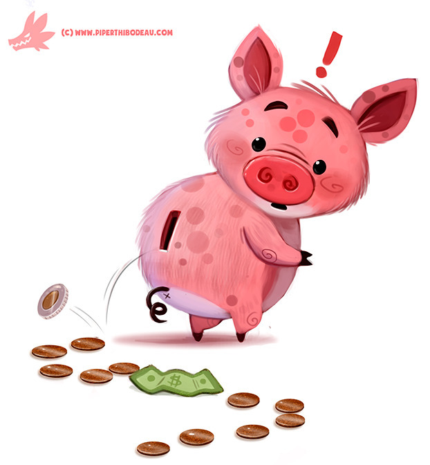 Daily Paint Piggy Bank - 1183. - piperthibodeau | ello