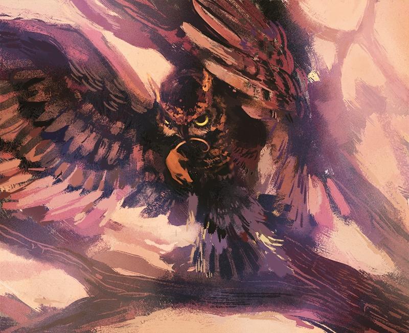 Great horned owl - illustration - nicolexu-8498 | ello