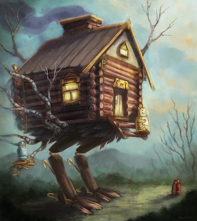 concept Baba Yaga house Stackin - lpetty | ello
