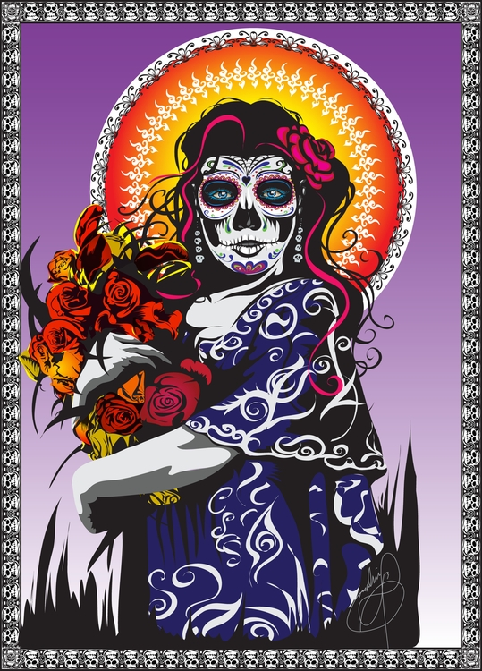 Dia De Los Muertos II (Day Dead - tobinpilotte | ello