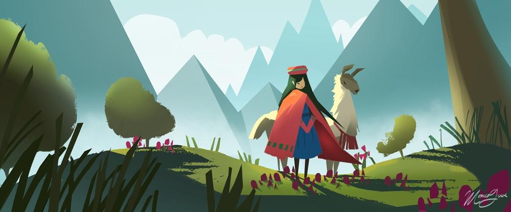 Tica Valley - illustration, environment - monicagrue | ello