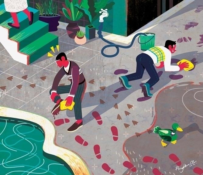 Good Guilt, Bad Guilt - guilt, editorialillustration - ping-7637 | ello