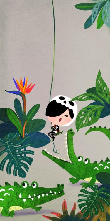 Lon jungle - illustration, characterdesign - lonlee   ello