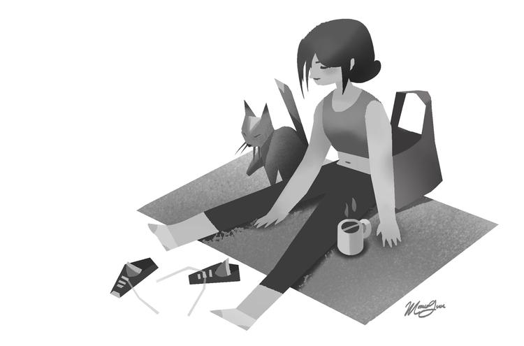 Ideal Scenario - illustration, girl - monicagrue | ello