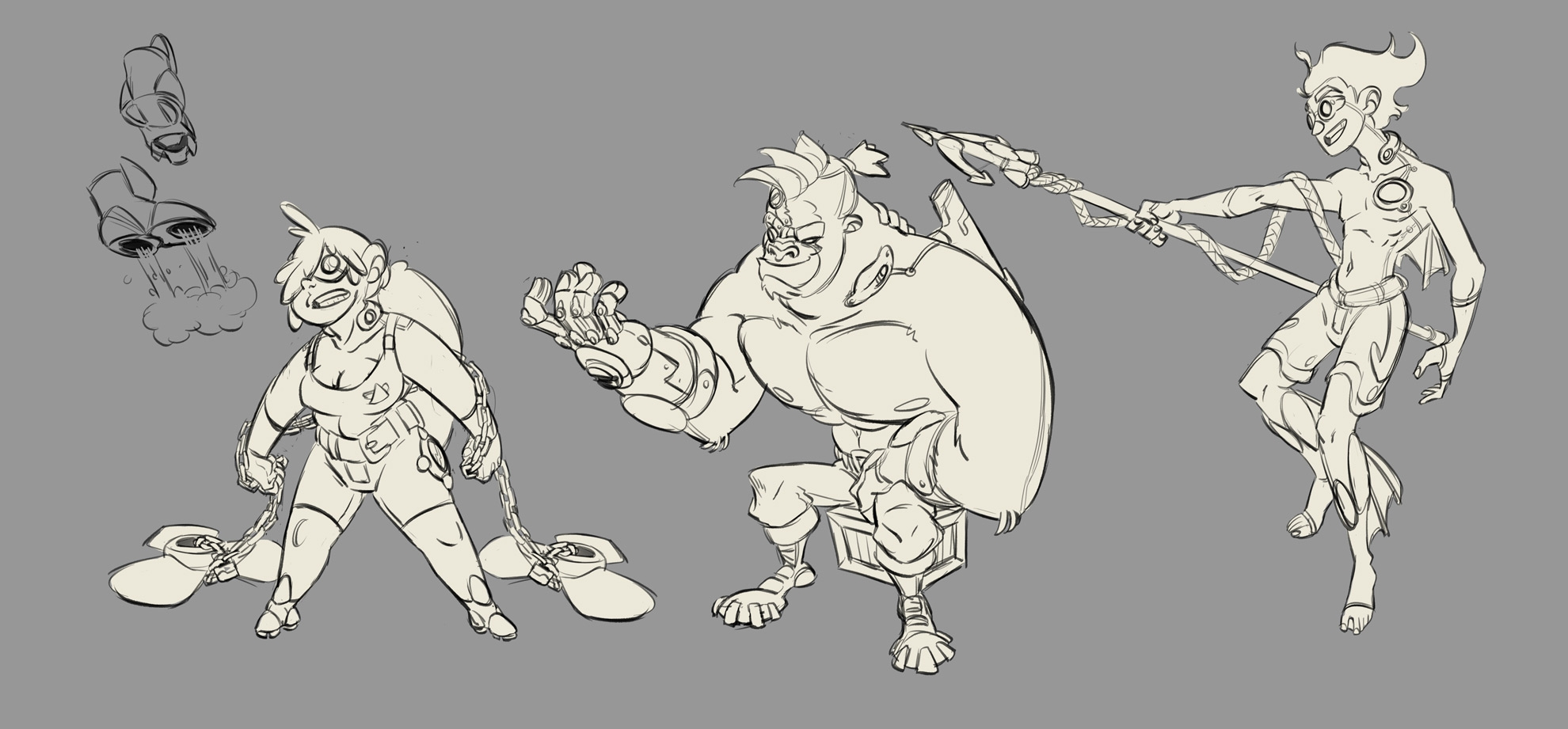 Character Sketches - characterdesign - emanuelearnaldi | ello