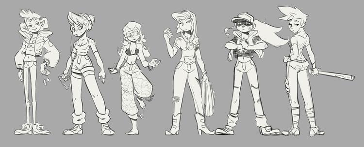 girls sketches - characterdesign - emanuelearnaldi | ello