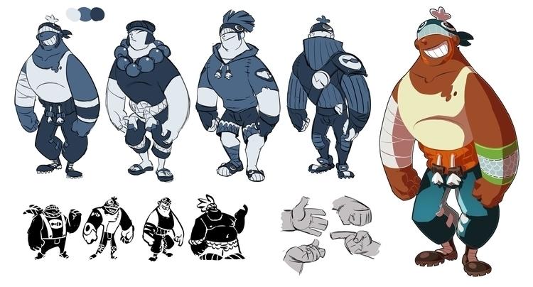 Physter - characterdesign, fish - emanuelearnaldi | ello