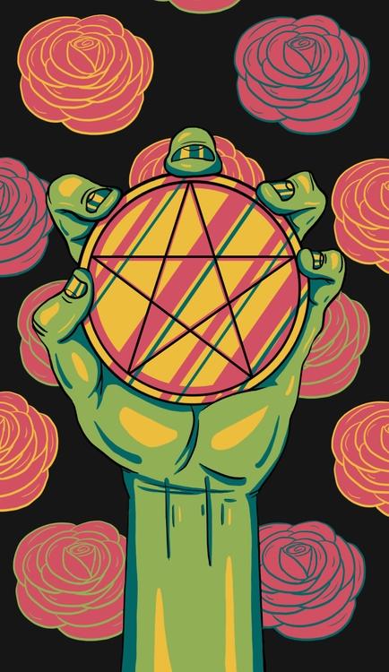 Ace Pentacles - illustration, tarot - wingywonky-5811 | ello