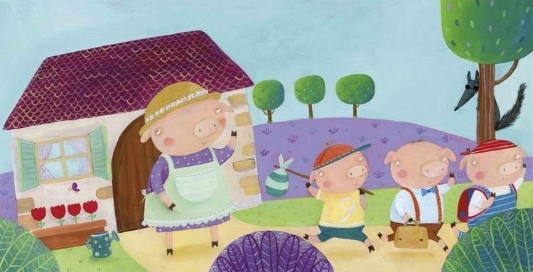 illustration, childrensbook, treporcellini - francescaassirelli | ello