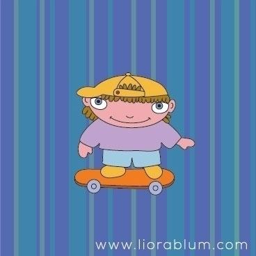 Skateboard Bill - illustration, characterdesign - liora-1444 | ello
