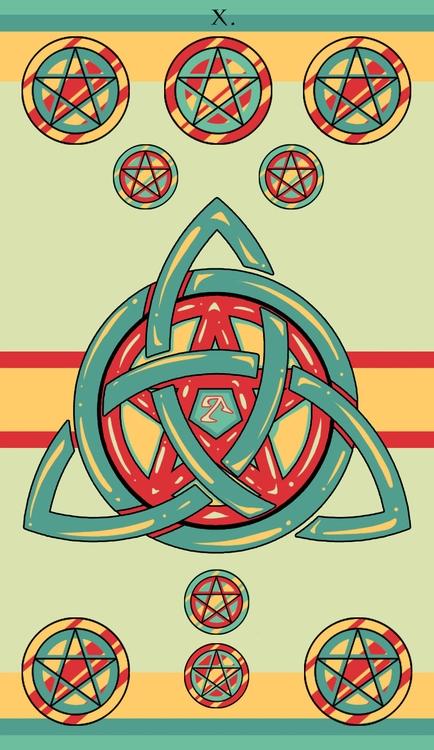 Ten Pentacles - illustration, tarot - wingywonky-5811 | ello