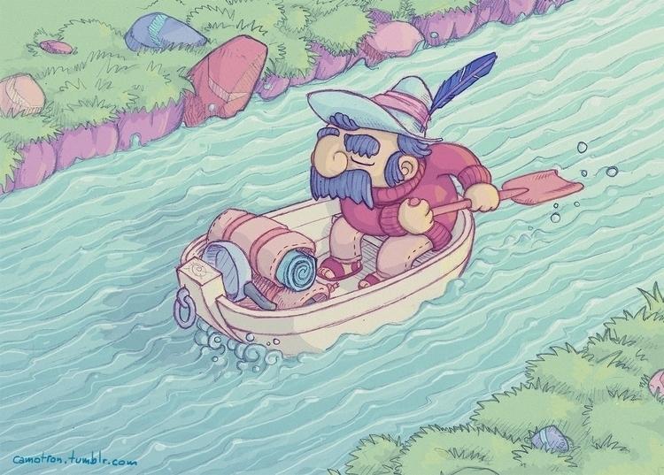 boat, river - camotron | ello