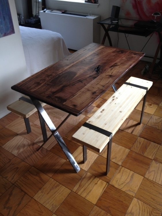 Modern PicNic Table, black waln - toddaustin | ello