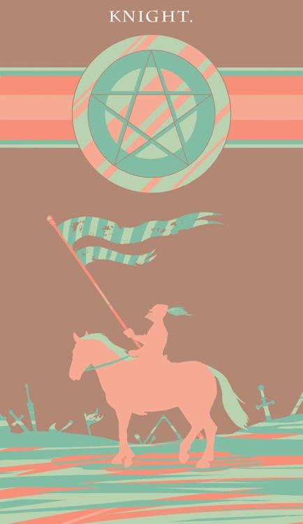 Knight Pentacles - illustration - wingywonky-5811 | ello