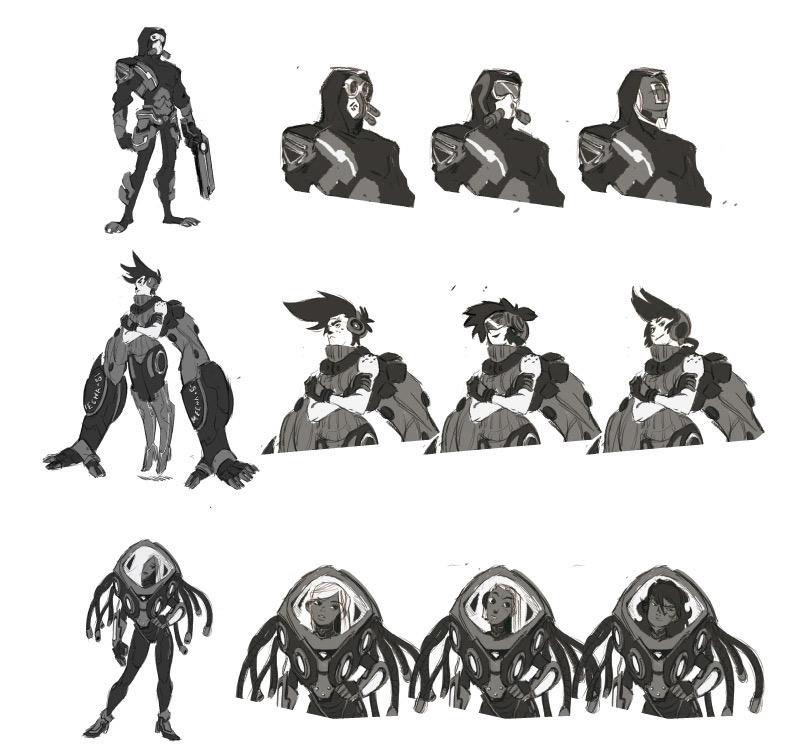 character process - 3 face desi - emanuelearnaldi | ello