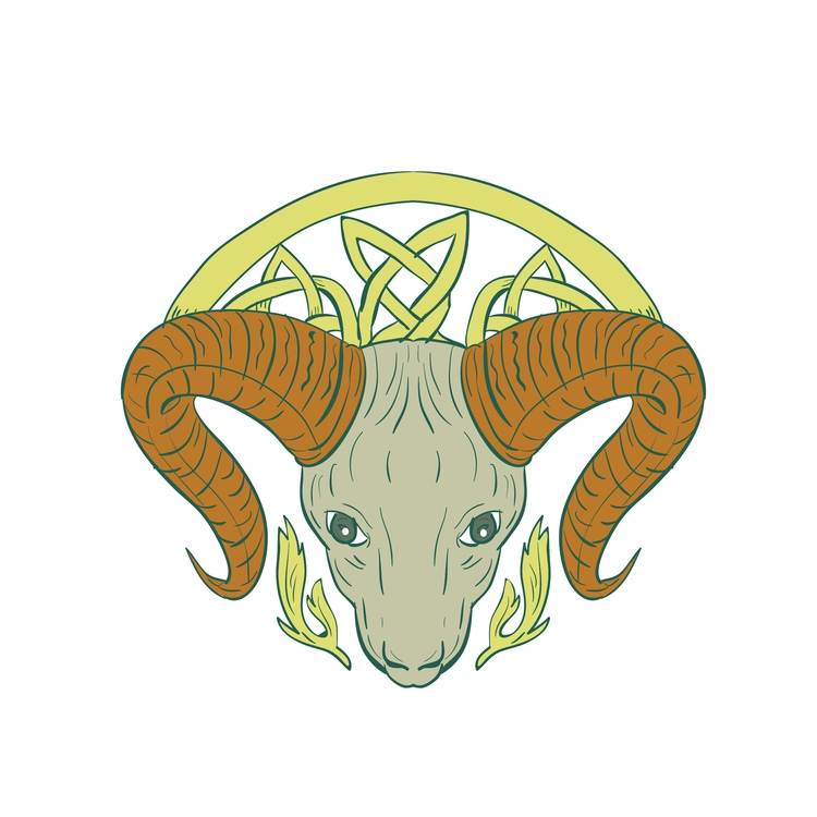Ram, Head, Celtic, Knot, retro - patrimonio | ello