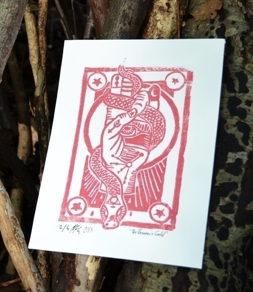 Guild Lino print - illustration - polkip | ello