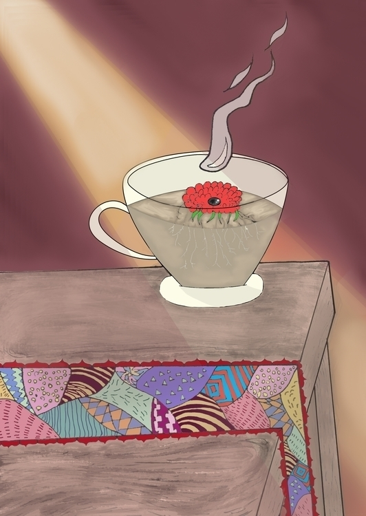 tea time - illustration, drawing - cindy-4762 | ello
