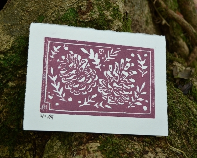 Winter Bracker Lino print - illustration - polkip   ello