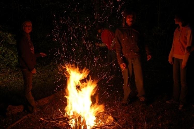 Campfire. Ohio. 2008 - sparks - joelmanahan | ello