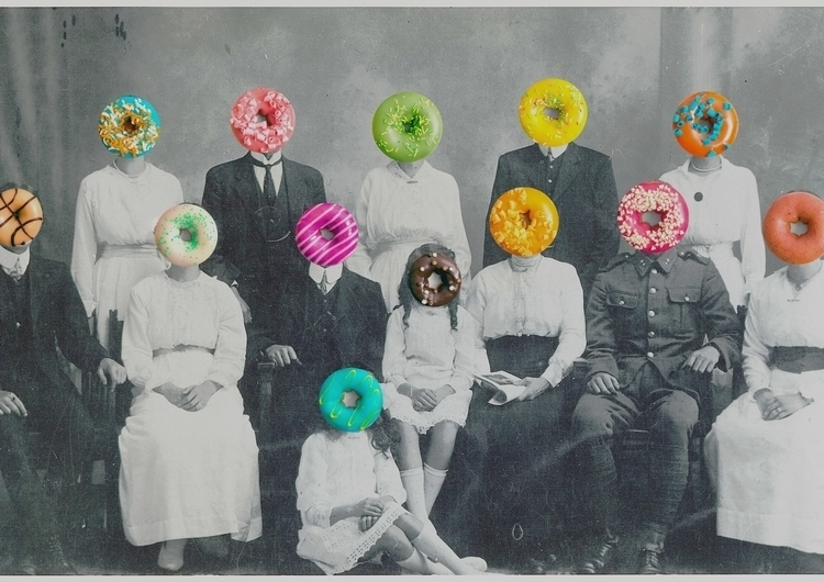 Donut family - collage, collageart - collage-1030 | ello