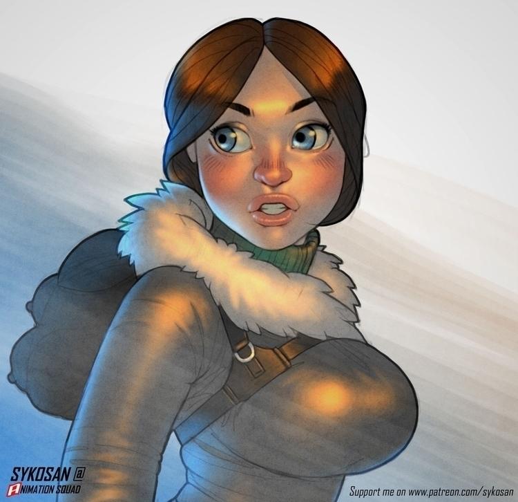 Fan art Lara Croft.  - fanart, laracroft - sykosan | ello