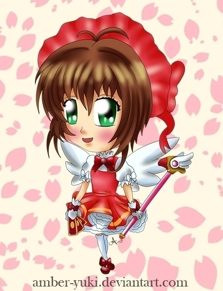 Chibi Sakura Card Captors - illustration - ambersteel | ello