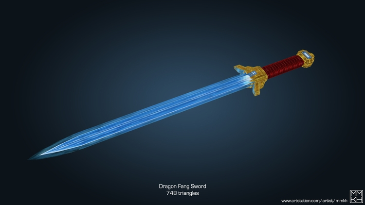 weapon, sword, dragon, fang, tooth - mmkh-5844 | ello