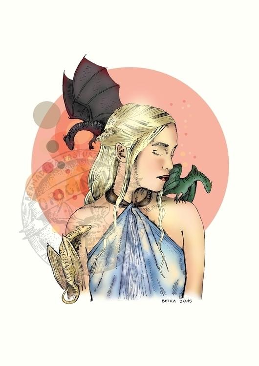 Daenerys Targaryen fanart - gameofthrones - betka_past | ello
