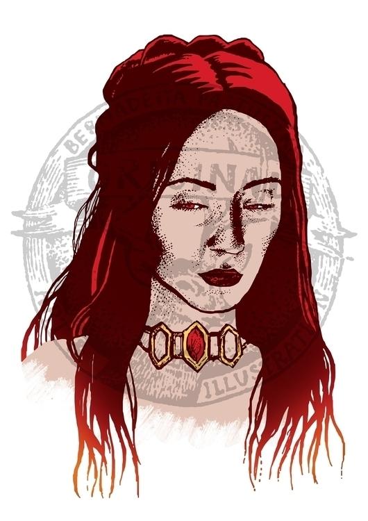 Melisandre fanart - melisandre, gameofthrones - betka_past   ello