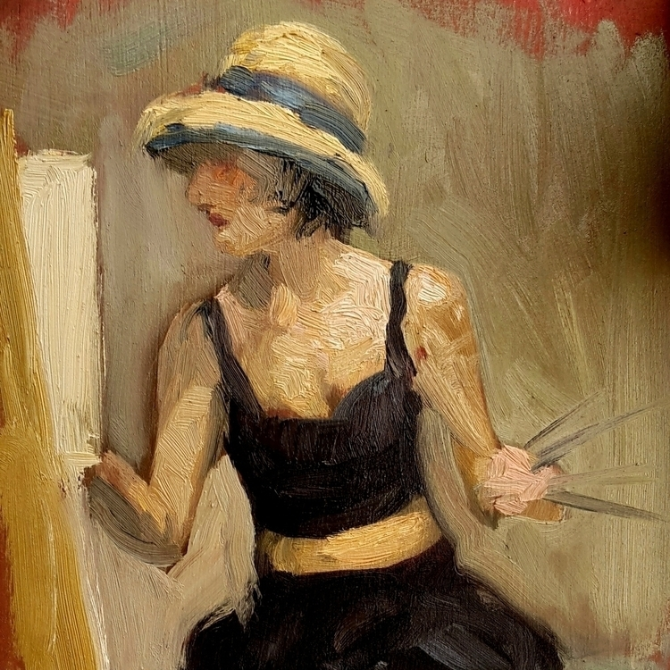 quick sketch sofia painting - figurative - sarachong | ello