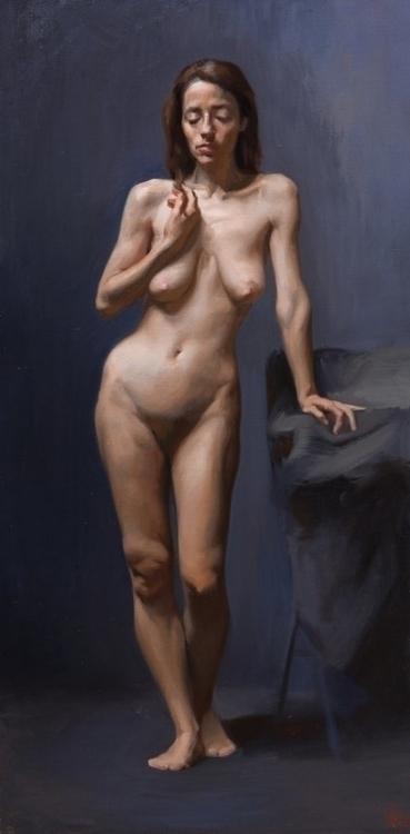 Muse, Oil Canvas - painting, naturalrealism - sarachong | ello