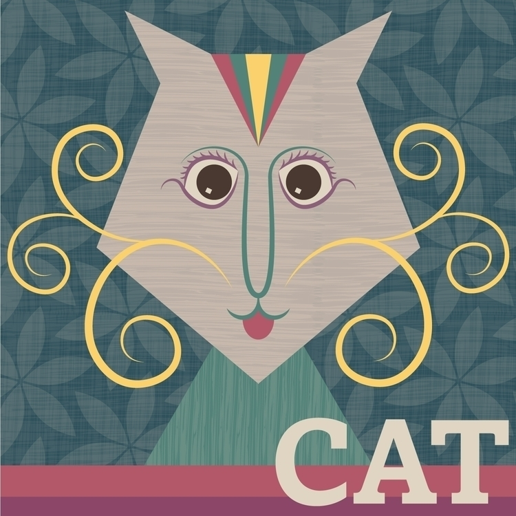 Stylised cat vector (including  - tashagoddard | ello