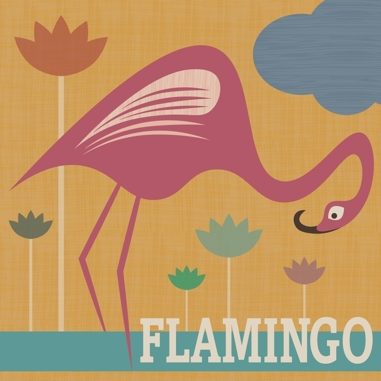 Stylised flamingo vector (inclu - tashagoddard | ello